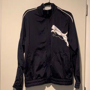 Puma zip up sweater/jacket size M dark blue